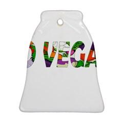 Go vegan Ornament (Bell)