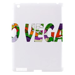 Go vegan Apple iPad 3/4 Hardshell Case (Compatible with Smart Cover)