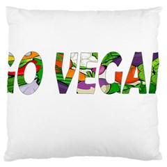 Go vegan Large Cushion Case (One Side)