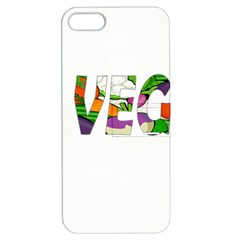 Go vegan Apple iPhone 5 Hardshell Case with Stand