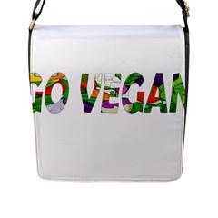 Go vegan Flap Messenger Bag (L)