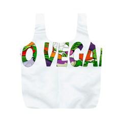 Go vegan Full Print Recycle Bags (M)