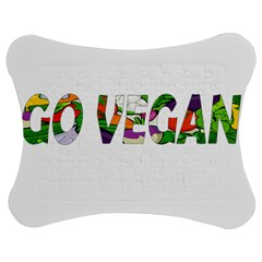 Go vegan Jigsaw Puzzle Photo Stand (Bow)