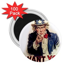 Uncle Sam 2.25  Magnets (100 pack)
