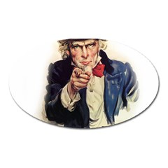 Uncle Sam Oval Magnet