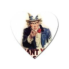 Uncle Sam Heart Magnet
