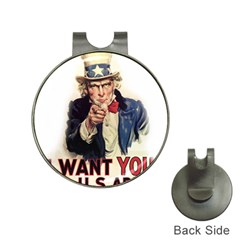 Uncle Sam Hat Clips with Golf Markers