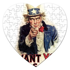 Uncle Sam Jigsaw Puzzle (Heart)