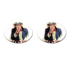 Uncle Sam Cufflinks (Oval)