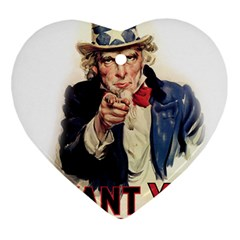 Uncle Sam Heart Ornament (Two Sides)