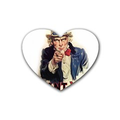 Uncle Sam Heart Coaster (4 pack)