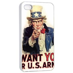Uncle Sam Apple iPhone 4/4s Seamless Case (White)