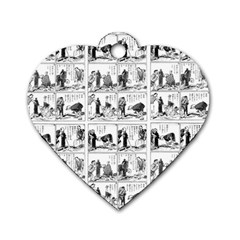 Old comic strip Dog Tag Heart (Two Sides)