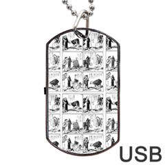 Old comic strip Dog Tag USB Flash (Two Sides)
