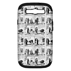 Old Comic Strip Samsung Galaxy S Iii Hardshell Case (pc+silicone)