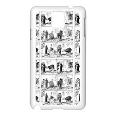 Old comic strip Samsung Galaxy Note 3 N9005 Case (White)