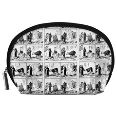 Old comic strip Accessory Pouches (Large)