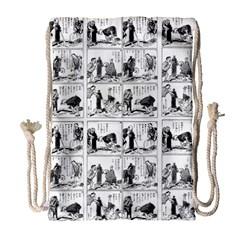 Old comic strip Drawstring Bag (Large)
