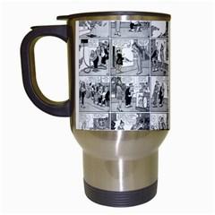 Old comic strip Travel Mugs (White)