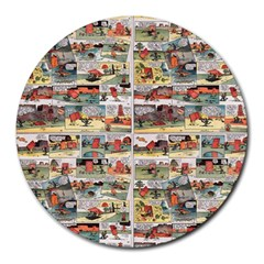 Old comic strip Round Mousepads