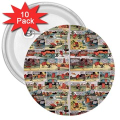 Old comic strip 3  Buttons (10 pack)