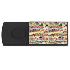 Old comic strip USB Flash Drive Rectangular (2 GB)