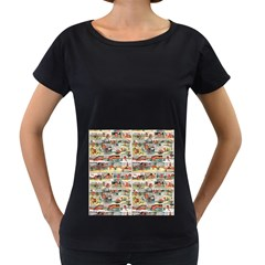 Old comic strip Women s Loose-Fit T-Shirt (Black)