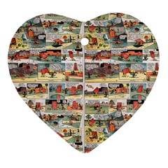 Old comic strip Heart Ornament (Two Sides)