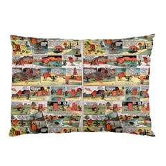 Old comic strip Pillow Case (Two Sides)