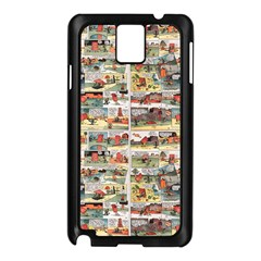 Old comic strip Samsung Galaxy Note 3 N9005 Case (Black)