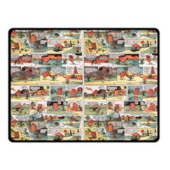Old comic strip Double Sided Fleece Blanket (Small)