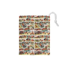 Old comic strip Drawstring Pouches (Small)