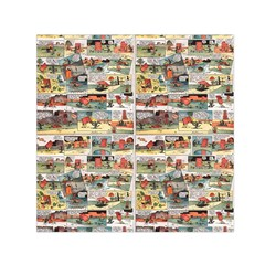Old comic strip Small Satin Scarf (Square)