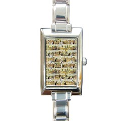 Old comic strip Rectangle Italian Charm Watch