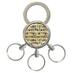 Old comic strip 3-Ring Key Chains