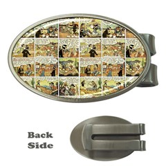 Old comic strip Money Clips (Oval)