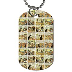 Old comic strip Dog Tag (Two Sides)