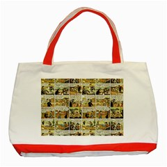 Old comic strip Classic Tote Bag (Red)