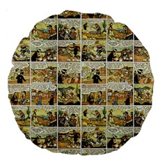 Old comic strip Large 18  Premium Round Cushions