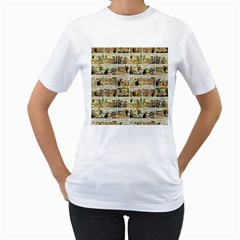 Old comic strip Women s T-Shirt (White)