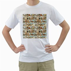Old comic strip Men s T-Shirt (White) (Two Sided)