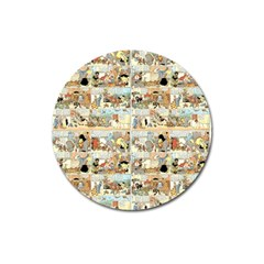 Old Comic Strip Magnet 3  (round)