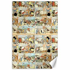 Old comic strip Canvas 24  x 36