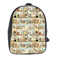 Old comic strip School Bags(Large)