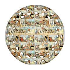 Old comic strip Round Filigree Ornament (Two Sides)