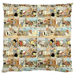 Old comic strip Large Cushion Case (One Side)