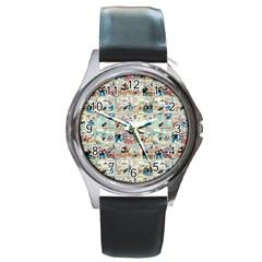 Old comic strip Round Metal Watch
