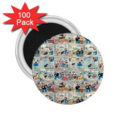 Old comic strip 2.25  Magnets (100 pack)