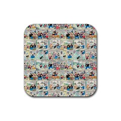 Old comic strip Rubber Square Coaster (4 pack)