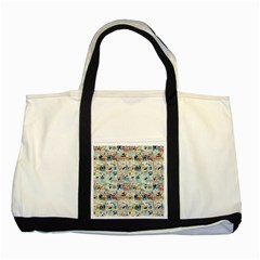 Old comic strip Two Tone Tote Bag